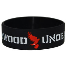 1piece Hollywood Undead Silicone Black Colour Bracelet Wristband(China)