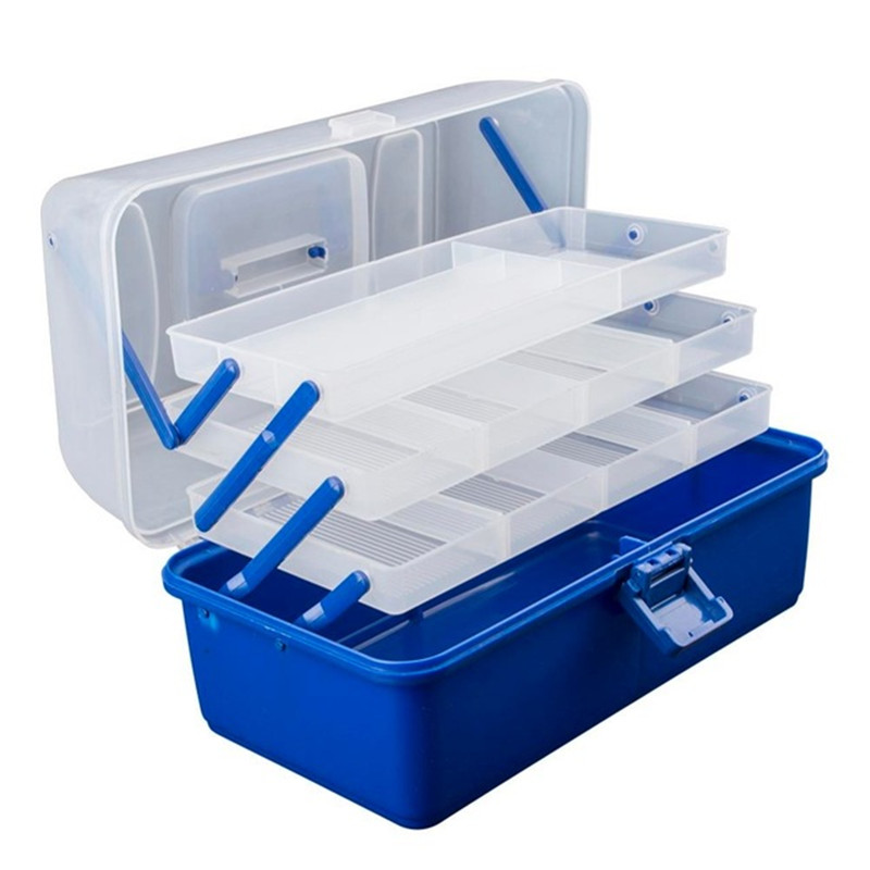 Portable Fishing Storage Case Tackle Box Plastic Waterproof Equipment Fish Lure 3/4 Layers