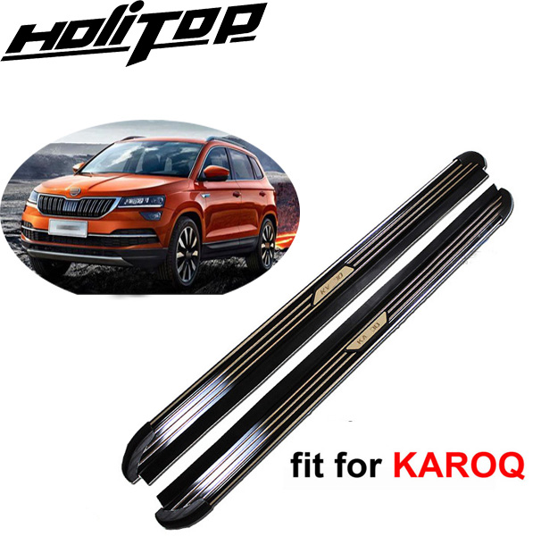 New Arrival running board side step side bar foot bar Pedal for SKODA KAROQ 2017 2018+,ISO90000 factory,high quality,low profit janeke ножницы маникюрные закругленные mp118