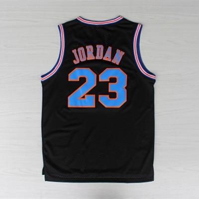 d61e23811e22 Space Jam Jerseys 23 Michael Jordan Tune Squad Basketball jersey White  Black LOONEY TOONES Jersey Rev 30 jordan Sports Jerseys-in Basketball  Jerseys from ...