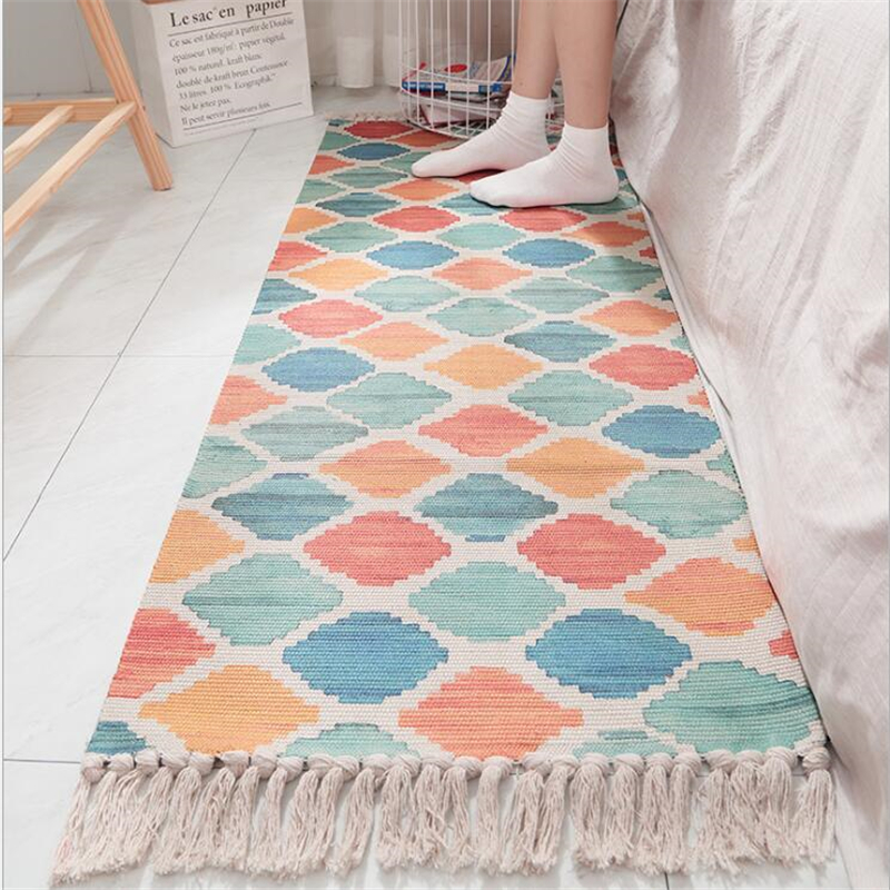 Tapis doux de chambre à coucher de coton délicat pour le salon tapis de Table de chambre d'enfant tapis de maison tapis de porte de plancher décorer tapis de zone de maison - 6