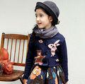 Venda quente dos desenhos animados coelho meninas malha camisola Cardigans casacos