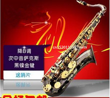 2017 Original brand tenor saxophone high quality BULUKE Sax  black nickel gold Perfect sound quality Free shipping