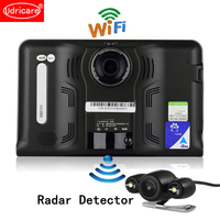 Udricare 7 inch GPS Navigation Android GPS DVR Camcorder 16GB Allwinner A33 Quad Core 4 CPUs Radar Detector Rear View Camera GPS