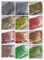 1.5 MM 060 24 Láser Holográfico glitter colores del polvo de uñas de Arte del tatuaje o otra decoración de DIY 1 pack = 1200g