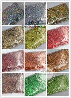 24 Holographic Laser colors Hexagon Shape 1.5MM 060 Size dust for nail tattoo Art or other DIY decoration 1Pack=1200G