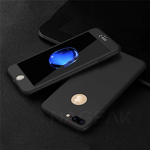 NAGFAK 360 Full Protective Phone Case For iPhone 8 7 6 6s 7 Plus 5 5s SE Anti-knock Case For iPhone 7 8 Plus 6 5S 6s Case Cover