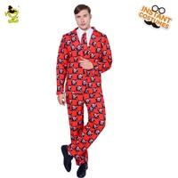 2018 Nieuwe Stijl Mannen Skeleton Suits Kostuum Gemaakt Mode Mannelijke Suits Casual Slim Fitness In Carnaval Party Rollenspel Kleurrijke Suits