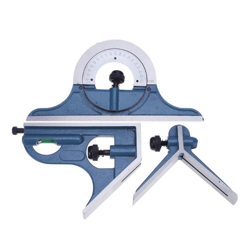 Universal Ruler Set Combination Square Protractor Esquadro Right Angle Combination Square Protractor Ruler Set Measuring Tools