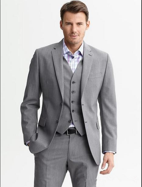 2016 hot selling 3 piece cheap grey suits for formal. Black Bedroom Furniture Sets. Home Design Ideas