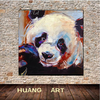Hand painted oil paintings animal treasures panda modern simple for living room decoration painting on canvas unframed on Canvas