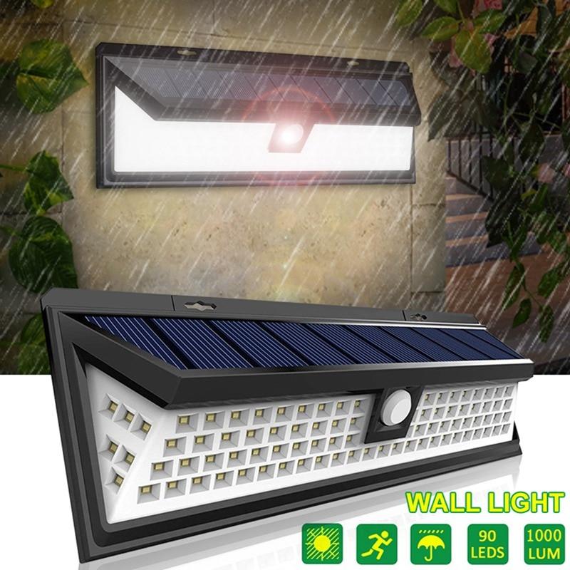 90 LED Solar Light Wall Lamp Three Modes PIR Motion Sensor IP65 Waterproof Outdoor Garden Yard Path Luz Solar Led Para Exterior