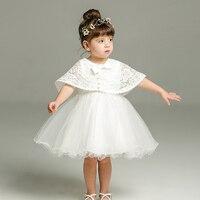 2018 שנה 1 חדשה תינוקת שמלות יום הולדת טבילת הטבלה שמלת תחרה נסיכת תינוק בגדי יילוד פעוטות Bebes