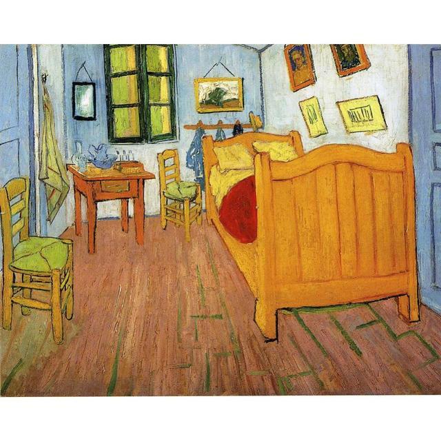 US $85.6 20% di SCONTO Dipinto a mano dipinti ad Olio Vincent Van Gogh Su  Tela Vincents Camera Da Letto Ad Arles di Alta qualità home decor in  Dipinto ...