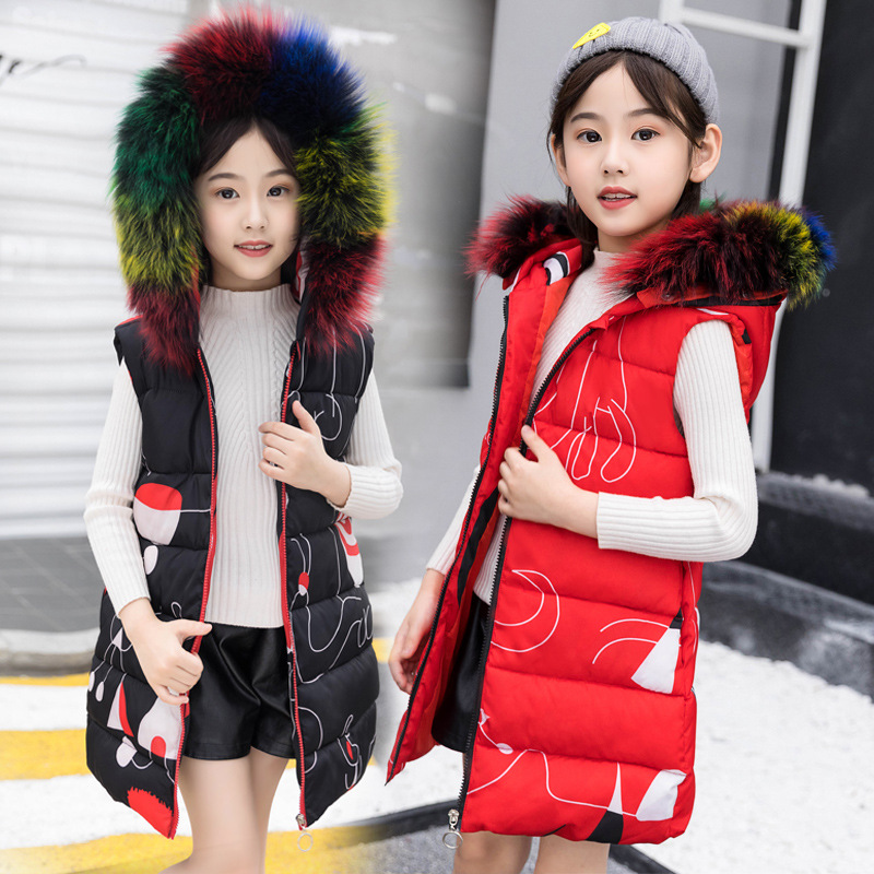 2018 Children's Winter New Vest Hooded Warm Vest Children Clothing Warm Fashion Vest Children's Sleeveless Coats Gilet Fille 12 mint green casual sleeveless hooded top