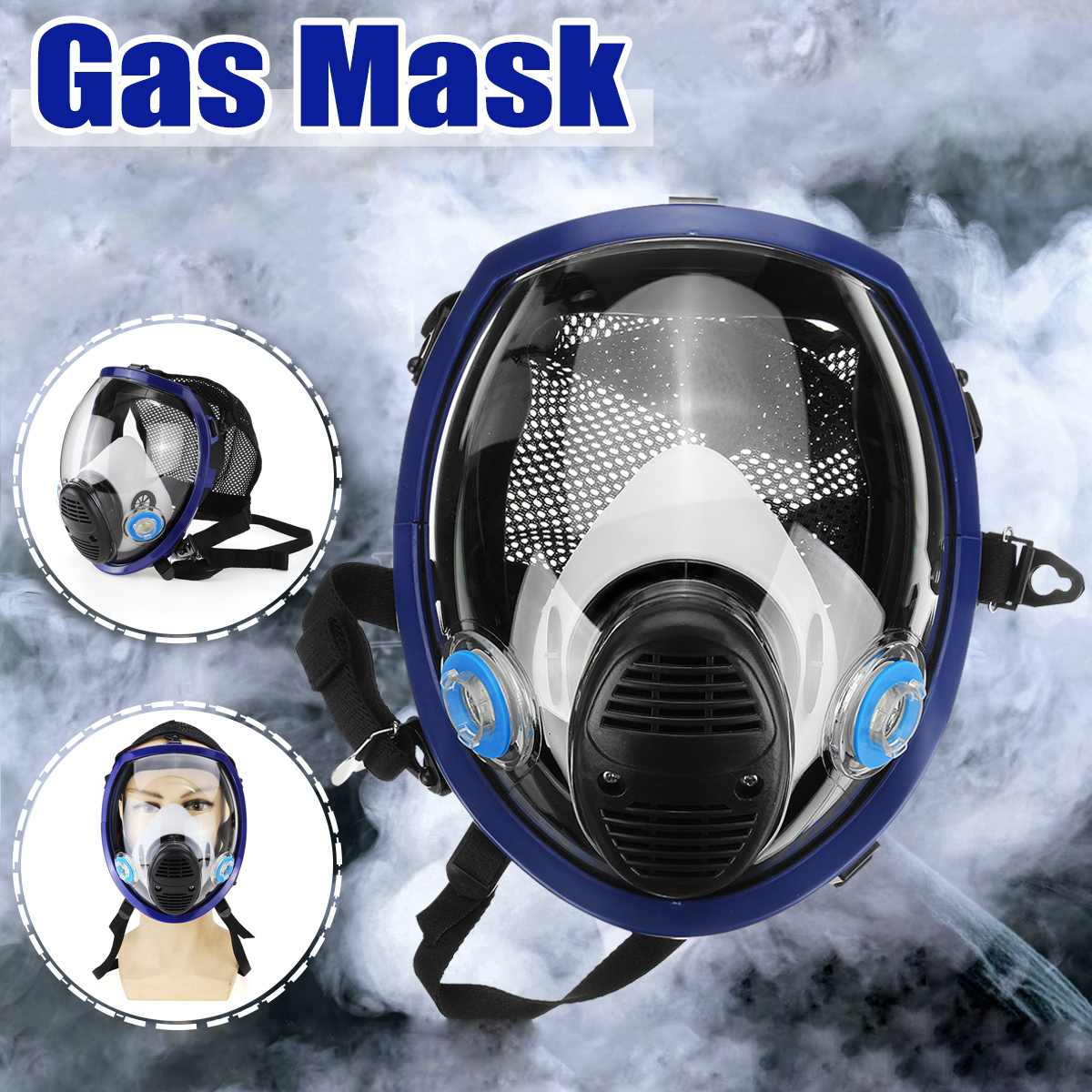 6800 For3M Full Face Chemical Mask Gas Mask Acid Dust Respirator Paint Pesticide Spray Silicone Filter Laboratory Welding