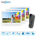 JeaTone 7 Inch 800TVL Intercom System Video Door Phone Night Vision Doorbell Camera Mounted Door Intercom Monitor Unlocking