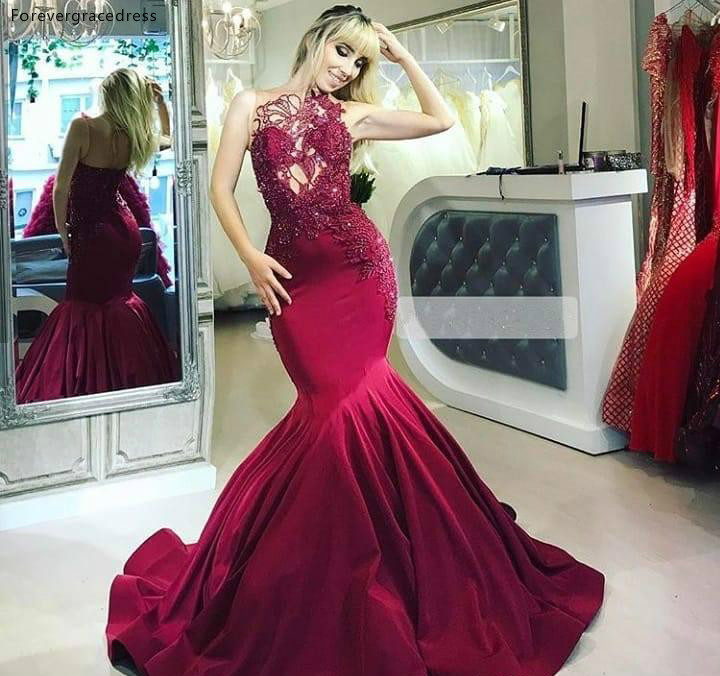 2019 Cheap Saudi Arabic Dubai Mermaid   Evening     Dress   Appliques Holiday Women Wear Formal Party Prom Gown Custom Made Plus Size