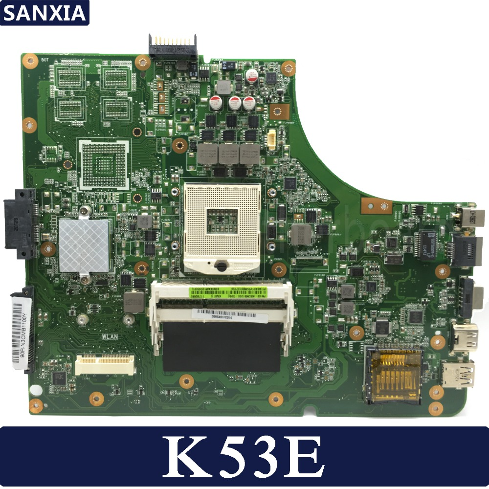 KEFU K53E Laptop motherboard for ASUS K53E K53SD K53 A53E A53S X53S X53E P53 Test original mainboard GM shadow recorder 2 7 tft touch key 140 1080p hd cmos wide angle night vision wdr car camcorder