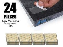 Arrowzoom 24 шт. упаковка панель из акустического пористого материала легкий монтаж липкие вкладки двухсторонние клейкие ленты