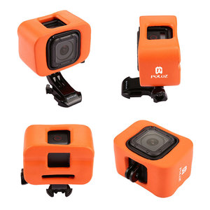 Image 5 - Orange Plastic Go Pro Float Case for GoPro Hero 4 Session 5 Session Accessories Floaty Case Protective Diving Surfing Cover
