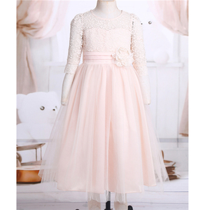 Image 3 - Princess Kids Flower Girl Lace Dress Half Sleeve Pageant Wedding Birthday Party Floral Lace Dress Clothes Teenage Girls Clothing