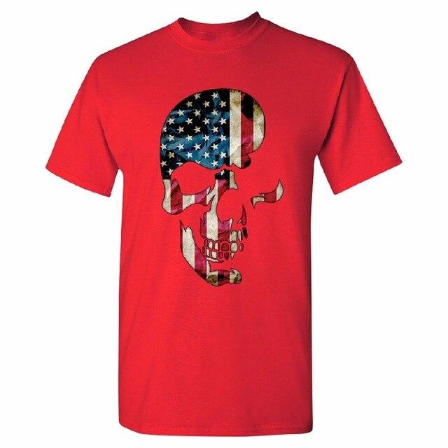 c40e67edca86 Retro T Shirts s Crew Neck Patriotic Half USA Flag Pattern s T-shirt 4th  July Tee Short Compression T Shirts