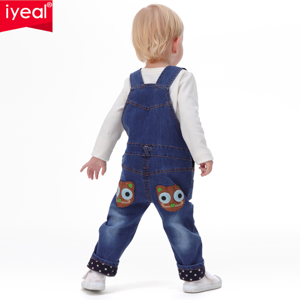 IYEAL 2017 Autumn Baby Rompers Animal Baby Boy Girl Jeans Jumpsuit High Quality Denim Overalls Infant Clothing Baby Clothes 0 2Y in Rompers from Mother Kids