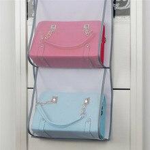 Parede pendurado sacos de armazenamento organizador sundries bolso bolsa titular casa decoração do banheiro quarto organização