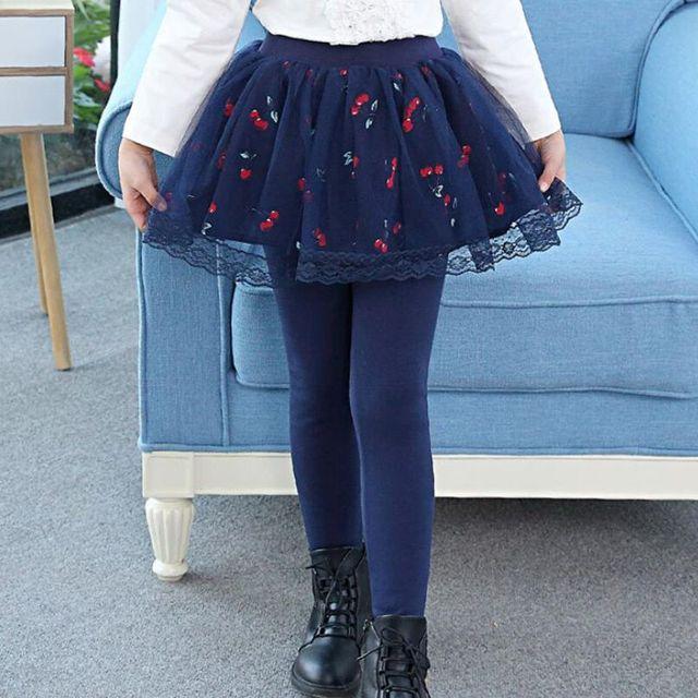 f057fc8a44c 2018 Spring Fall Toddler Teen Girls Leggings Kids Girl Legging Lace Print  Tutu Skirt Pants Child Trousers Cotton Leggins JW3473