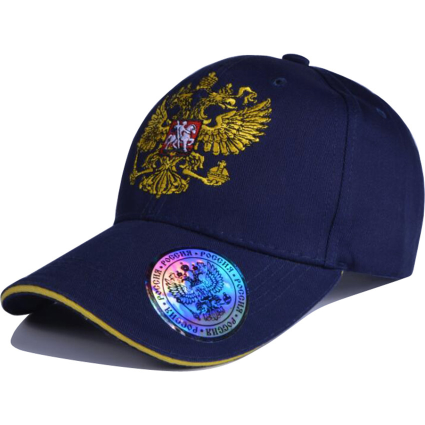 Eaby Dunhuang Explosion Models   Cap   Cotton Russia Emblem Embroidery   Baseball     cap   Sun visor