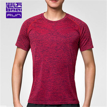 BMAI / Baimi spring and summer seamless one weaving men running T-shirt round neck Slim breathable sweater short-sleeved