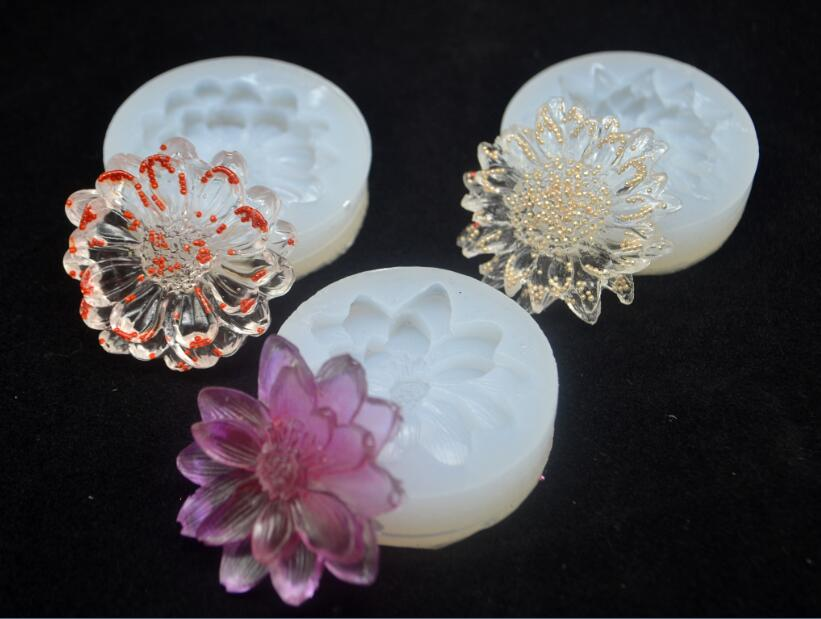 3 Style For Choose White Flower Diy Silicone Molds Epoxy Resin Jewelry Pendant Mould Making Craft Mold Tools Diy Making Fashion