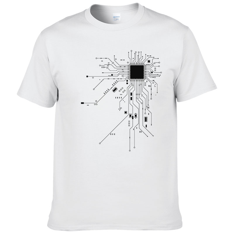 Computer CPU Core Heart T-Shirt Men's GEEK Nerd Freak Hacker PC Gamer Tee Summer Short Sleeve Cotton T Shirt Euro Size #303 2