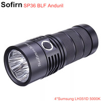 Sofirn SP36 BLF Anduril 4*Samsung LH351D 5650lm Powerful LED Flashlight USB Rechargeable 18650 Torch 5000K High 90 CRI