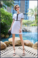 High quality new fashion 2017 summer simple casual dress  L1708074