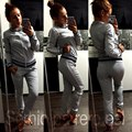 2016 Tracksuits Hoodie women's Zipper Suits Fashion Coats Jacket Set Pants Sportswear Brand female sweatshirt HD0110