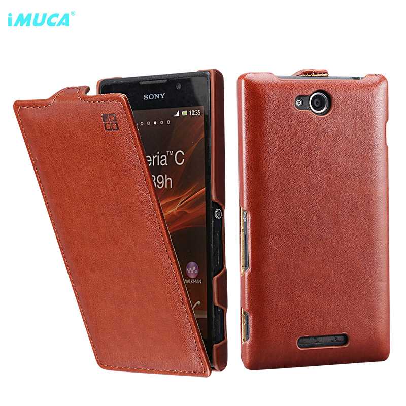 for Sony Xperia C2305 Case cover flip le