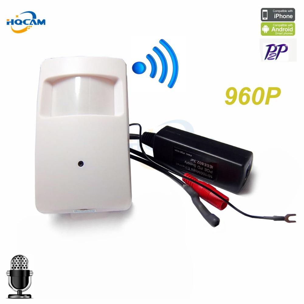 Hqcam 960 P POE Беспроводной модуль камеры WI-FI камеры Mini ip-камеры WI-FI POE PIR Cam ip-камеры PoE ONVIF P2P аудио веб-камера