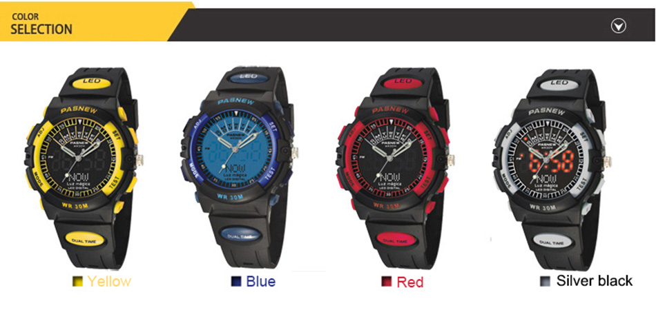 2018 Free Shipping Fashion Men Watch Waterproof Sport Men Wristwatch S Quartz Digital Boy Clock Relogio Masculino (6)