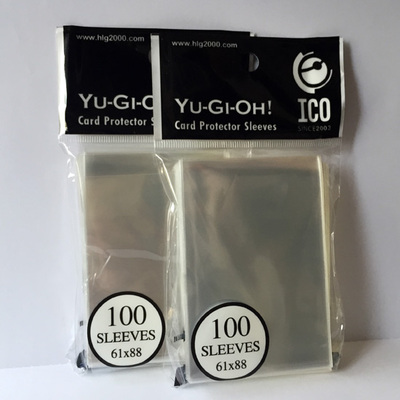 200pcs/pack 61*88mm pure transparent Card Sleeves Cards Protector Barrie for Yu-Gi-Oh yu gi oh board game cards holder