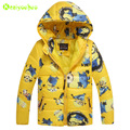 KEAIYOUHOU 2017 Winter Autumn Children Clothes Boys Hooded Jacket For Boys Minions Outerwear Coat Kids Boy Down Jacket 3-10 Year