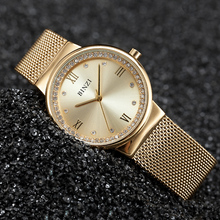 New Fashion Women Watch Ultrathin Gold Alloy Quartz Ladies Watch Waterproof Women Watches Relogio Feminino Dourado