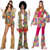 Free shipping New 2017 Ladies 80s Retro Hippie Go Go Girl Disco Costume Fancy Dress Hen Xmas Party size
