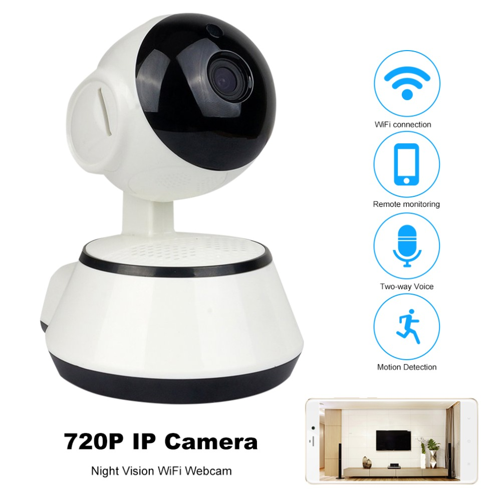720P HD Wifi IP Camera 3.6mm Wireless Baby Monitor Smart Baby Camera Audio Record Surveillance Home Security Camera Night Vision