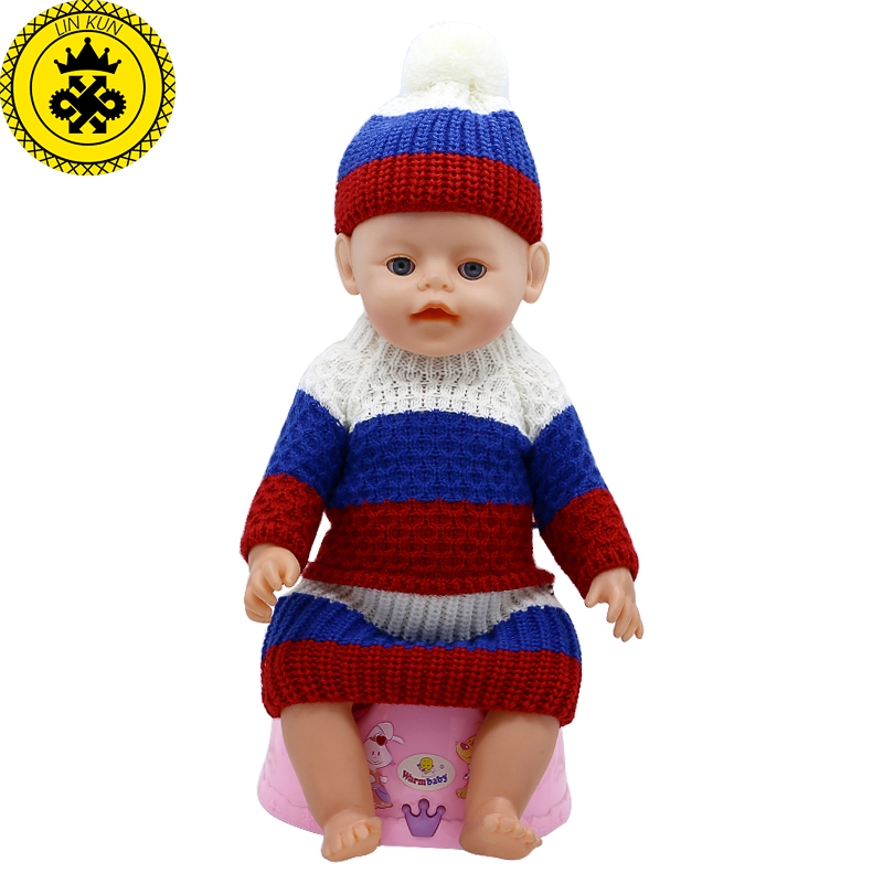 Baby Born Doll Clothes Woolen Hand-woven Coat + Skirt + Hat Fit 43cm Zapf Baby Born Doll Accessories Birthday Gifts 359 baby born doll clothes bat patch skirt dress fit 43cm baby born zapf or 17inch baby born doll accessories high quality love 183