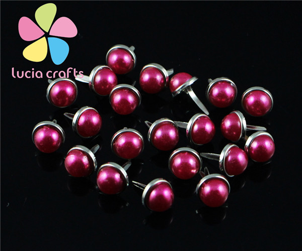 Распродажа! 12 шт/24 шт 8 мм опт разноцветные варианты 8 мм Скрапбукинг жемчужные украшения DIY аксессуары G1012 - Цвет: rose red 12pcs