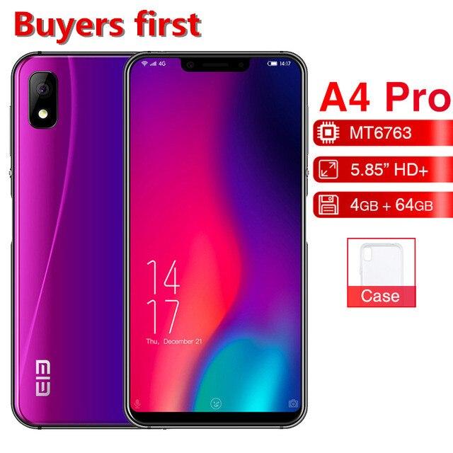 2018 D'origine Elephone A4 Pro téléphone portable MT6763 Octa Core 5.85 Android 8.1 Smartphone 4 gb RAM 64 gb ROM 16MP 4g LTE Mobile Téléphone