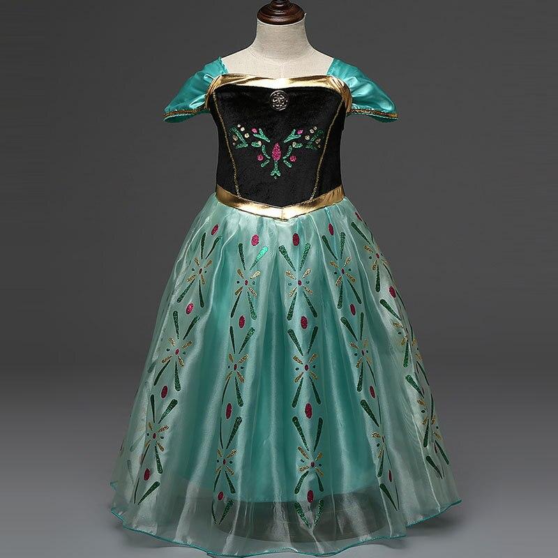 2016 анна рокля принцеса момичета - Детско облекло - Снимка 3