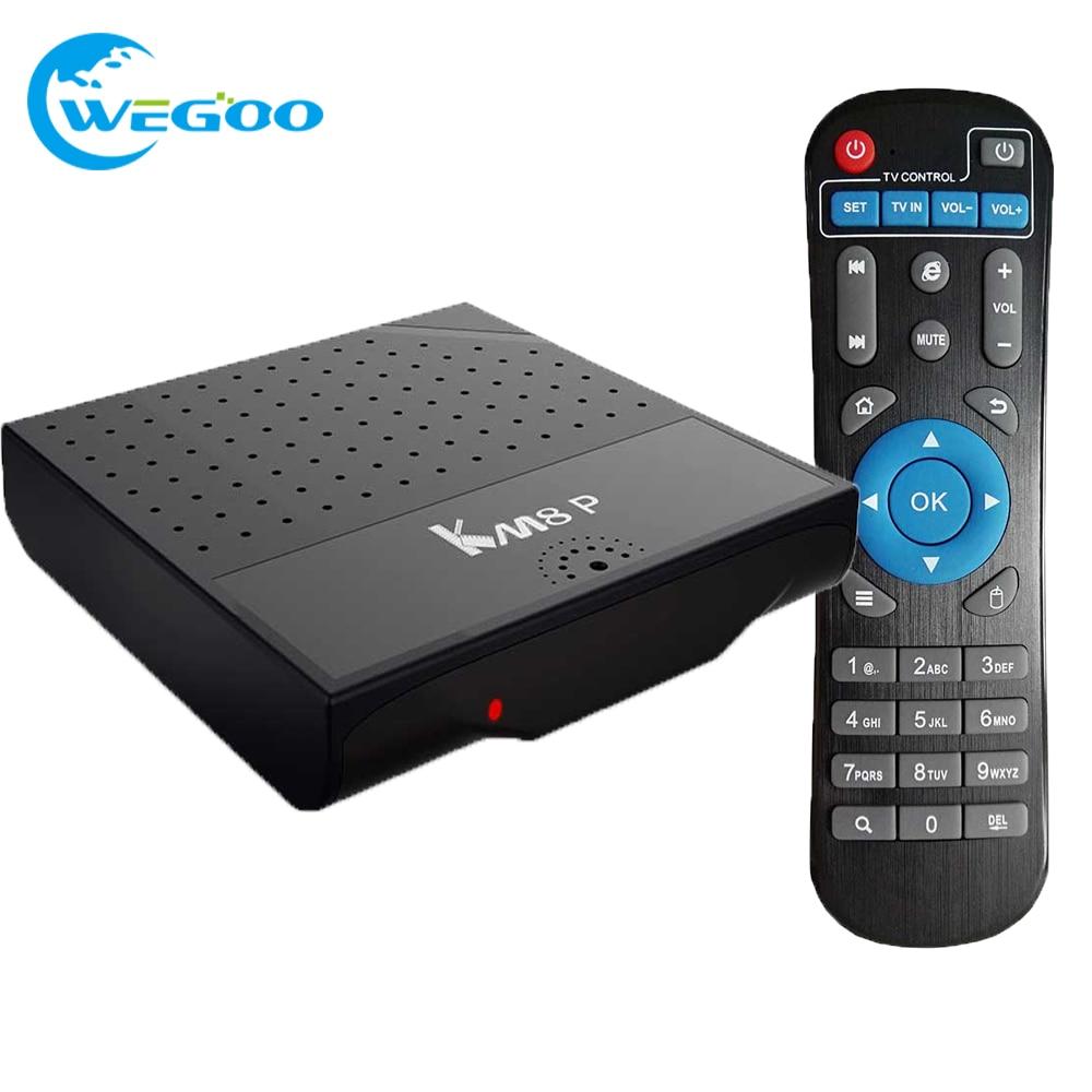 ФОТО WEGOO 2017 KM8P Android 6.0 TV Box Amlogic S912 Octa Core Smart Media Player TV Box 2GB 8GB H.265 4K*2K 2.4G WiFi set top box